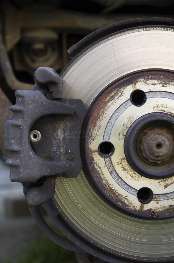 Detalle de un freno del coche fotografía de archivo