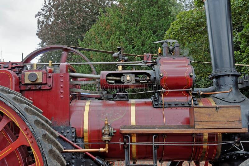 Detalle de un motor de tracción del vapor del vintage imágenes de archivo libres de regalías