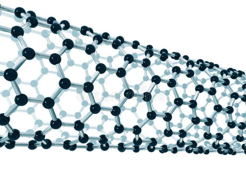 Detalle de un nanotube del carbón libre illustration