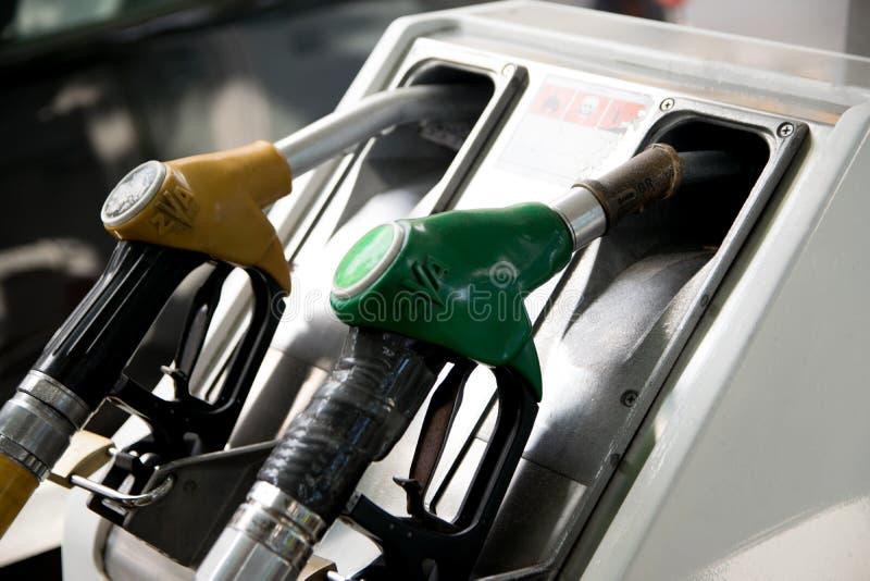 Detalle de un surtidor de gasolina foto de archivo libre de regalías