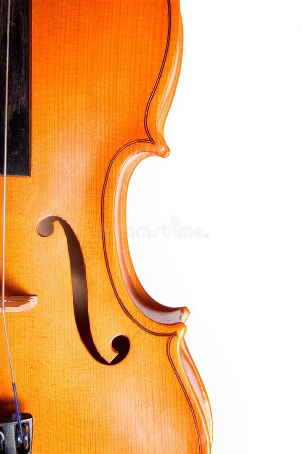 Detalle de un violín fotos de archivo