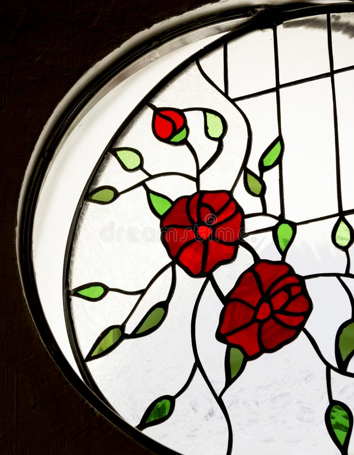 Detalle de un vitral dentro de un cuarto fotografía de archivo libre de regalías