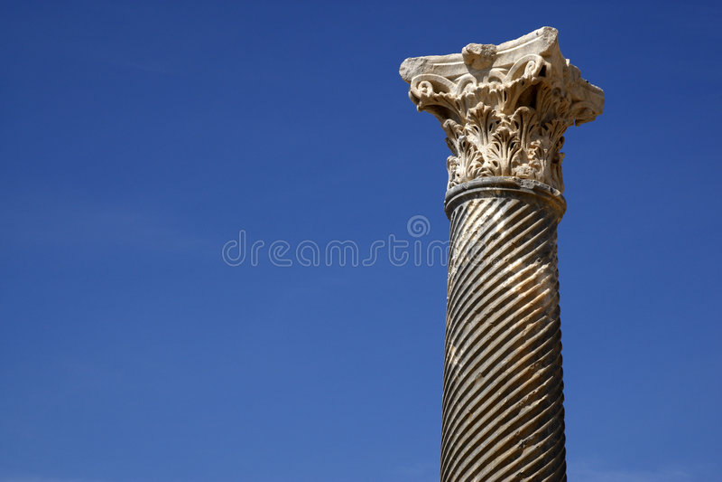 Detalle de una columna romana