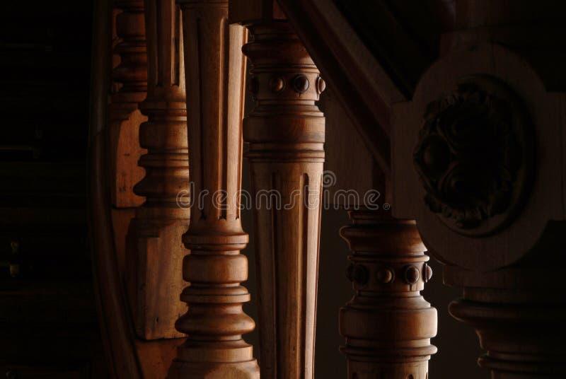 Detalle de una maneta de las escaleras fotos de archivo libres de regalías