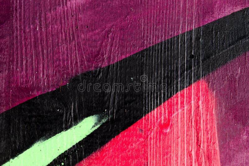 Detalle de una pintada como papel pintado, textura, colector del ojo fotografía de archivo libre de regalías