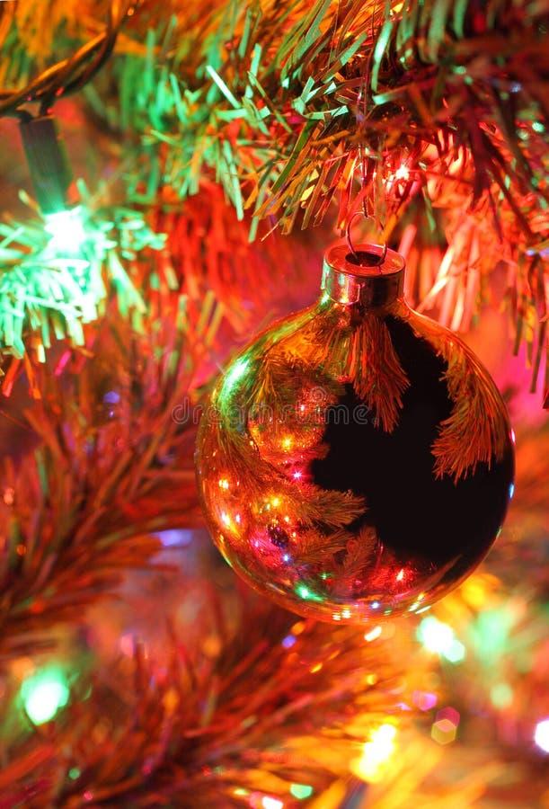 Detalle del árbol de navidad fotografía de archivo