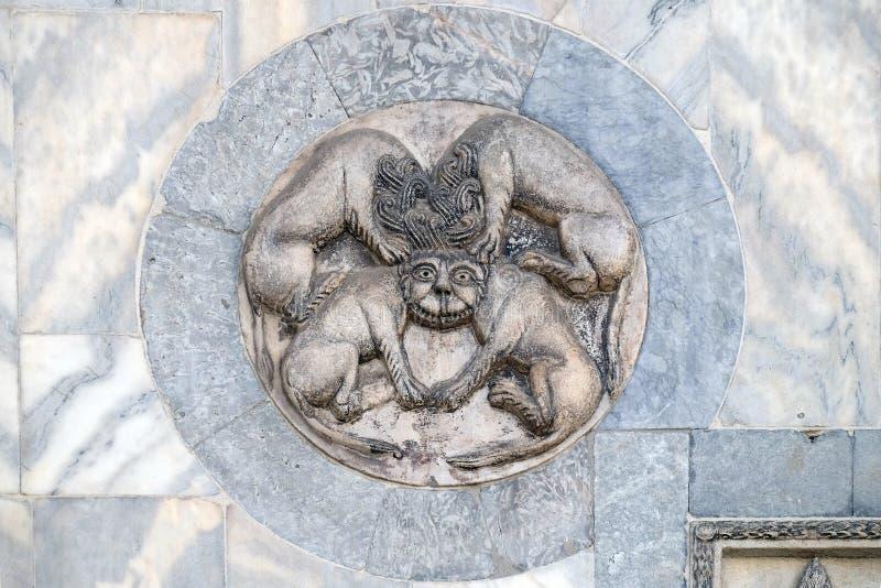Detalle del alivio de la basílica del ` s de St Mark en Venecia fotografía de archivo libre de regalías