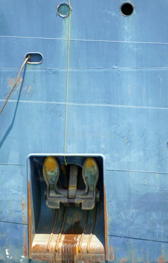 Detalle del ancla del carguero del lago fotos de archivo libres de regalías