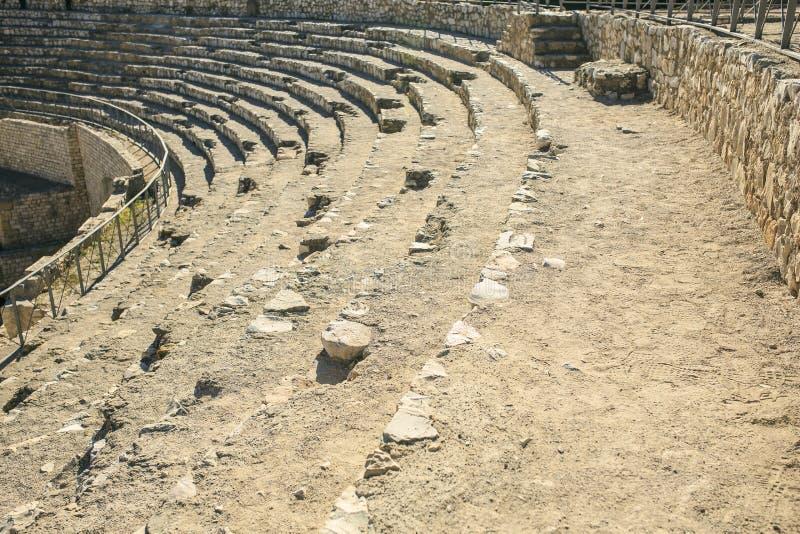 Detalle del anfiteatro localizado en Tarragona, España fotografía de archivo