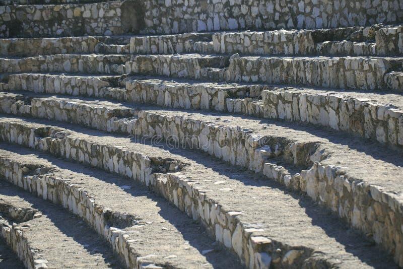 Detalle del anfiteatro localizado en Tarragona, España imagenes de archivo