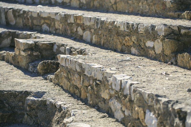 Detalle del anfiteatro localizado en Tarragona, España fotos de archivo libres de regalías