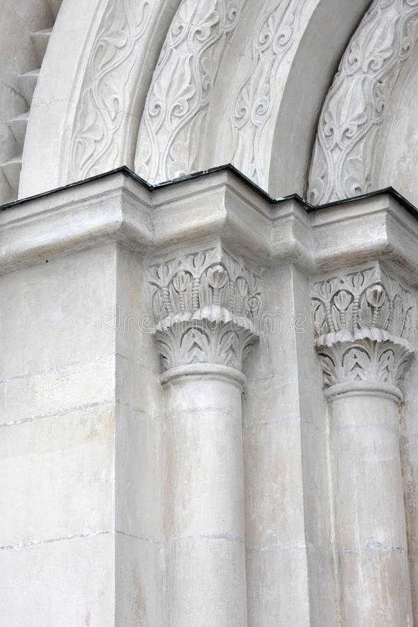 Detalle del arco, catedral de Dormition imagen de archivo