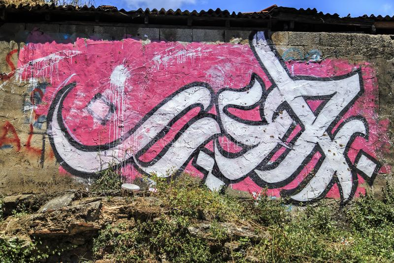 Detalle del arte urbano moderno en Estambul fotos de archivo libres de regalías