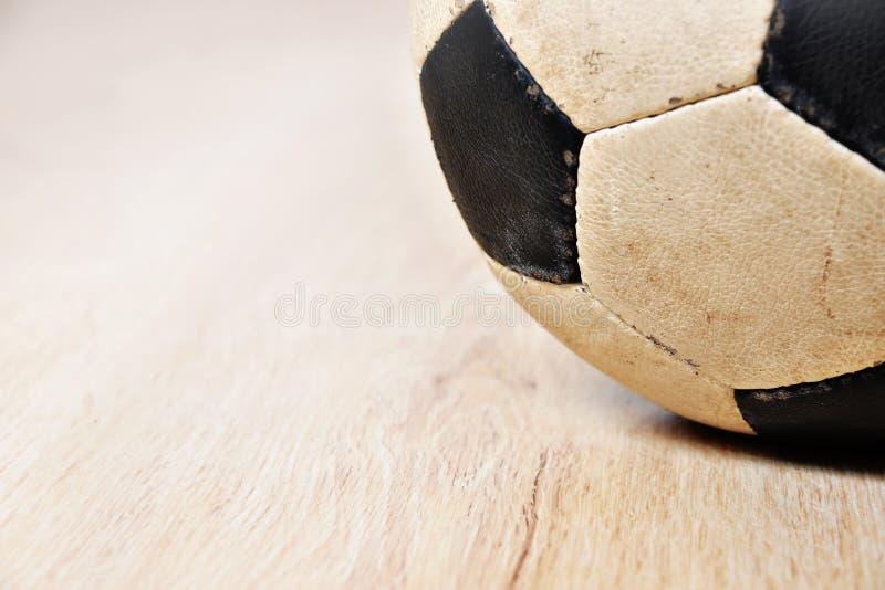 Detalle del balón de fútbol imagen de archivo
