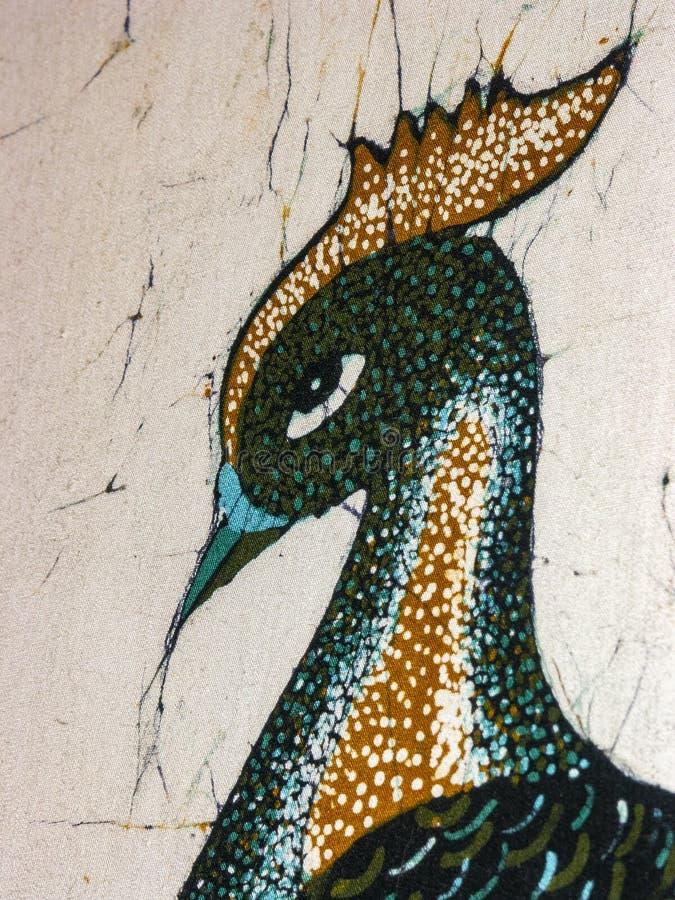 Detalle del batik indio oriental, hecho a mano con los colores naturales handcrafted en el lugar de la producci?n fotos de archivo libres de regalías