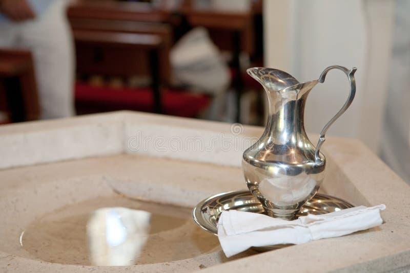 Detalle del bautismo imagen de archivo libre de regalías