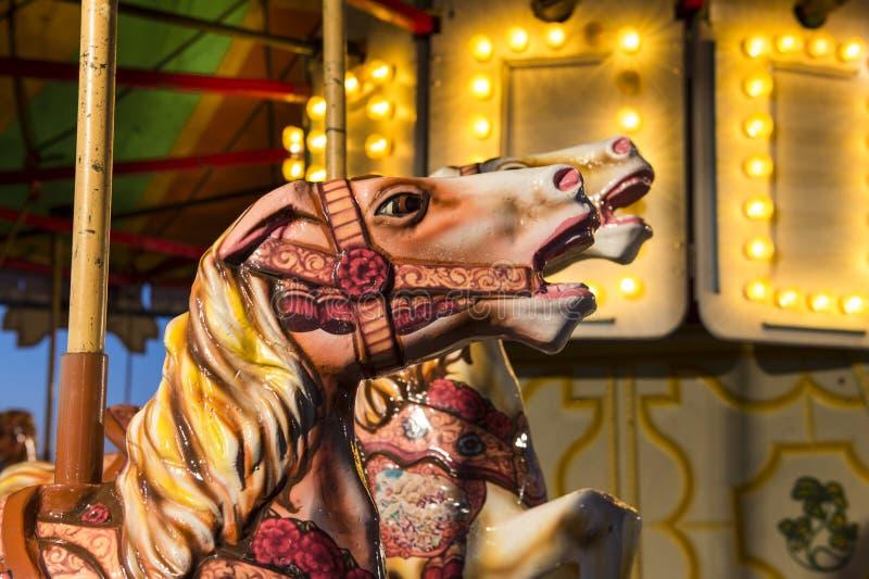 Detalle del caballo del carrusel foto de archivo libre de regalías