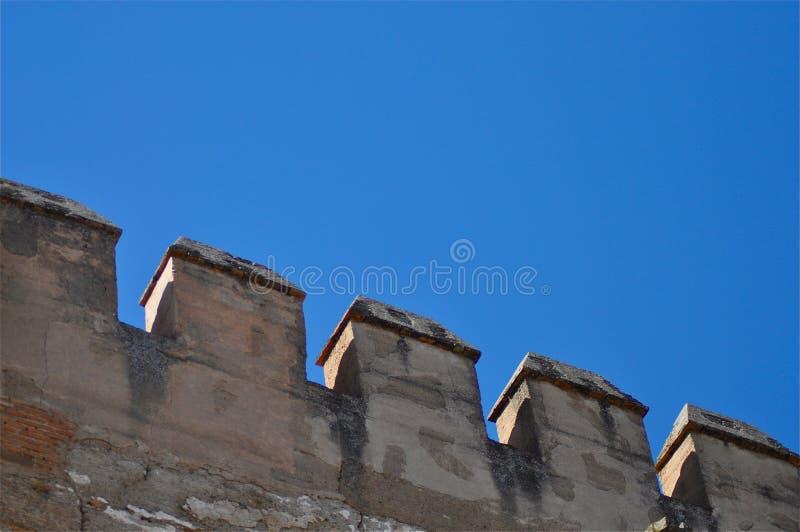 Detalle del castillo imagenes de archivo