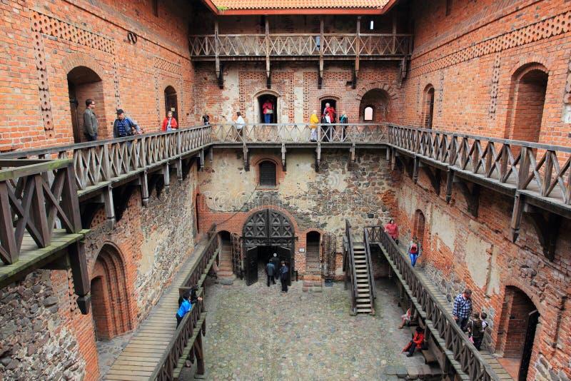 Detalle del castillo de Trakai fotografía de archivo libre de regalías
