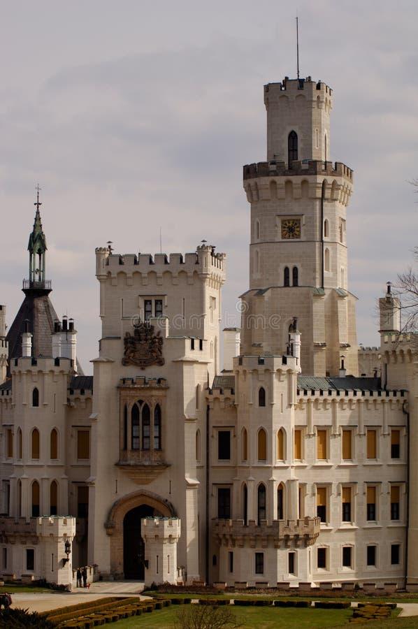 Detalle del castillo Hluboka imagen de archivo