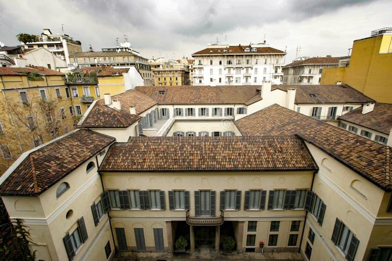 Detalle del centro de Milán foto de archivo libre de regalías