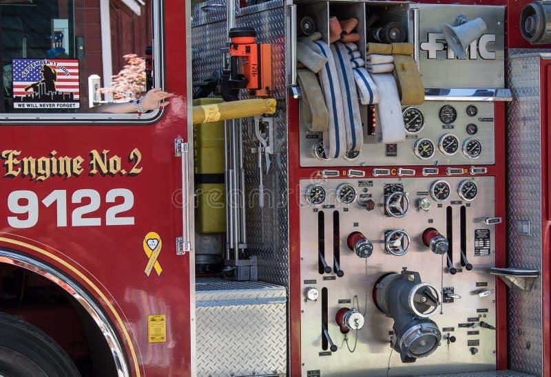 Detalle del coche de bomberos imágenes de archivo libres de regalías