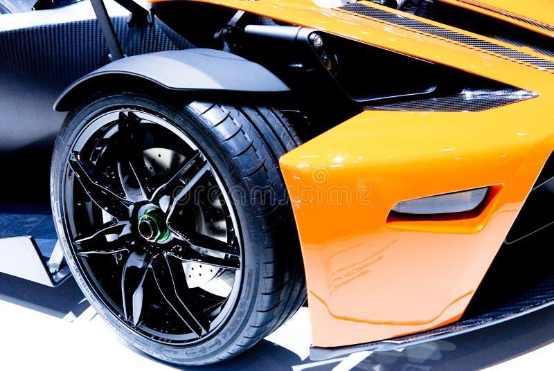 Detalle del coche de deportes foto de archivo
