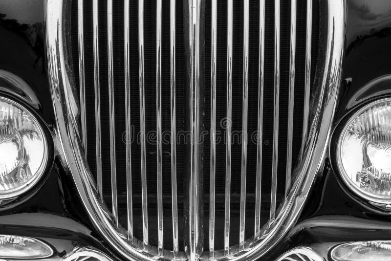 Detalle del coche del vintage con color negro imágenes de archivo libres de regalías