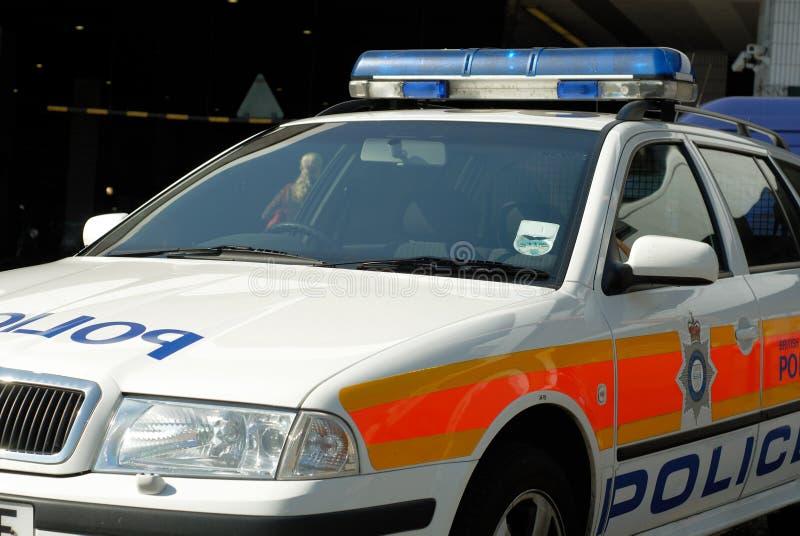 Detalle del coche policía foto de archivo