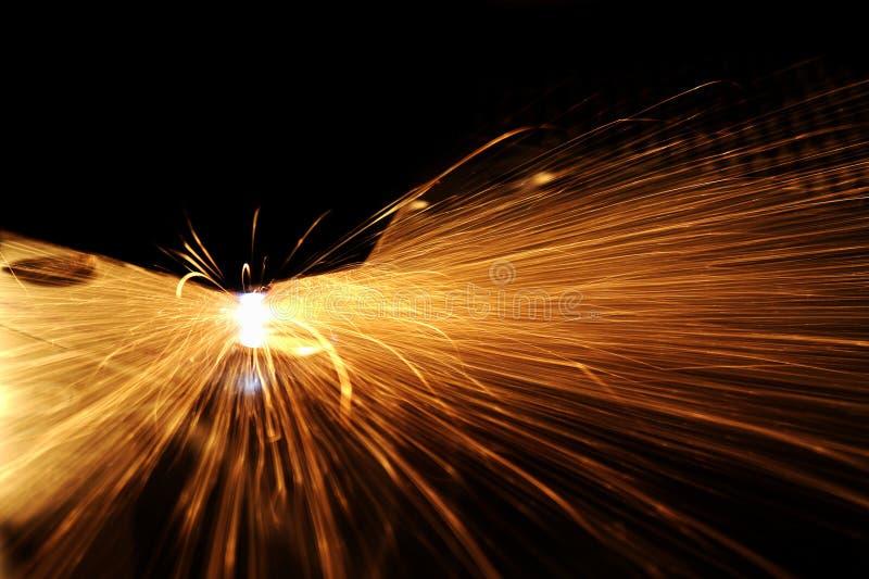 Detalle del corte del laser fotografía de archivo libre de regalías