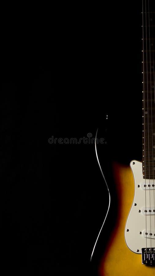 Detalle del cuello de la guitarra eléctrica fotos de archivo libres de regalías