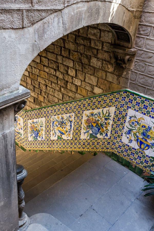 Detalle del ` de Casa del Ardiaca del ` en Barcelona imagen de archivo libre de regalías
