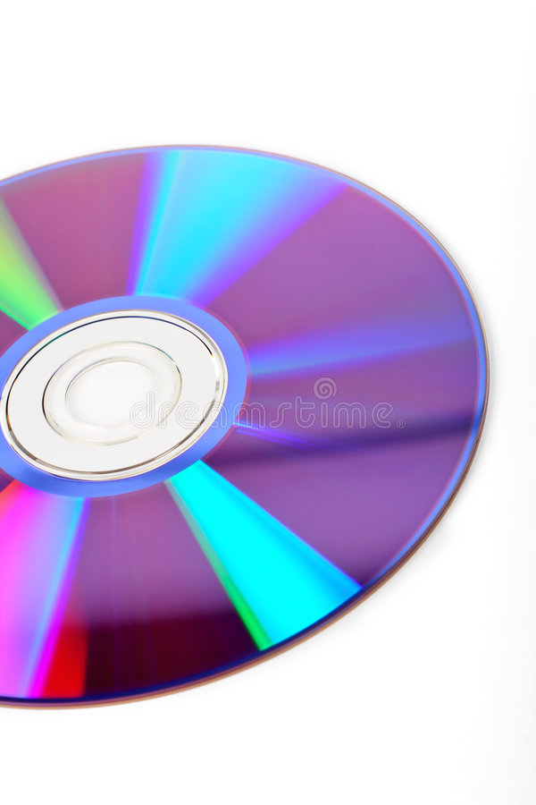 Detalle del disco de DVD fotografía de archivo