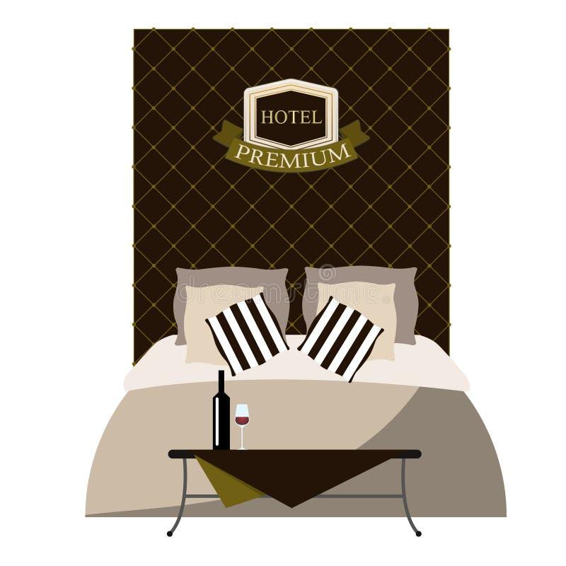 Detalle del diseño interior de una habitación de lujo Vector libre illustration