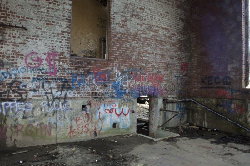 Detalle del edificio del control de la cerradura 19 fotografía de archivo libre de regalías