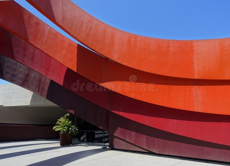 Detalle del edificio de la arquitectura moderna imagen de archivo libre de regalías