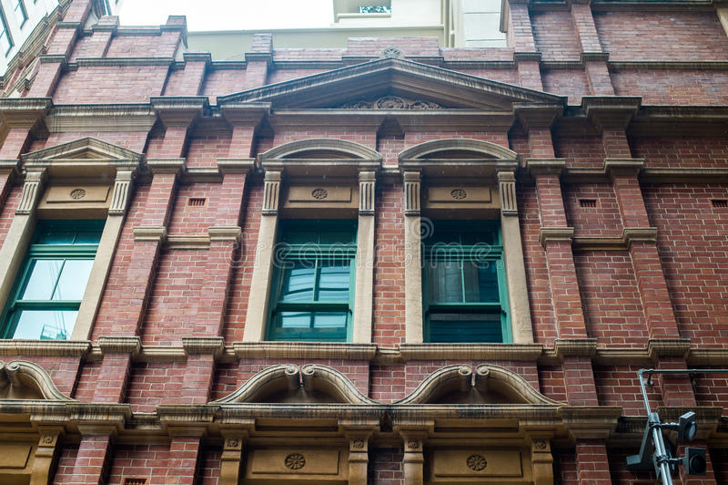 Detalle del edificio de ladrillo imágenes de archivo libres de regalías