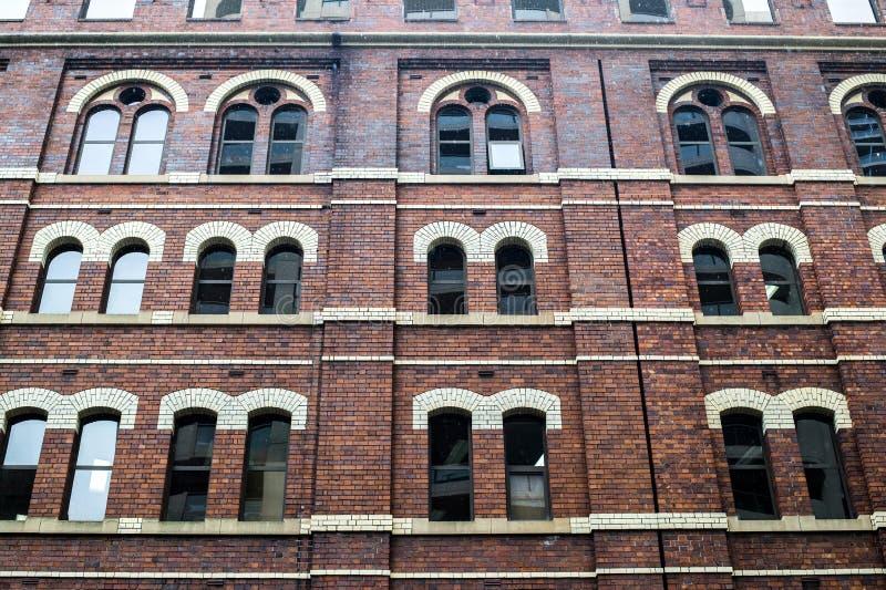 Detalle del edificio de ladrillo fotografía de archivo