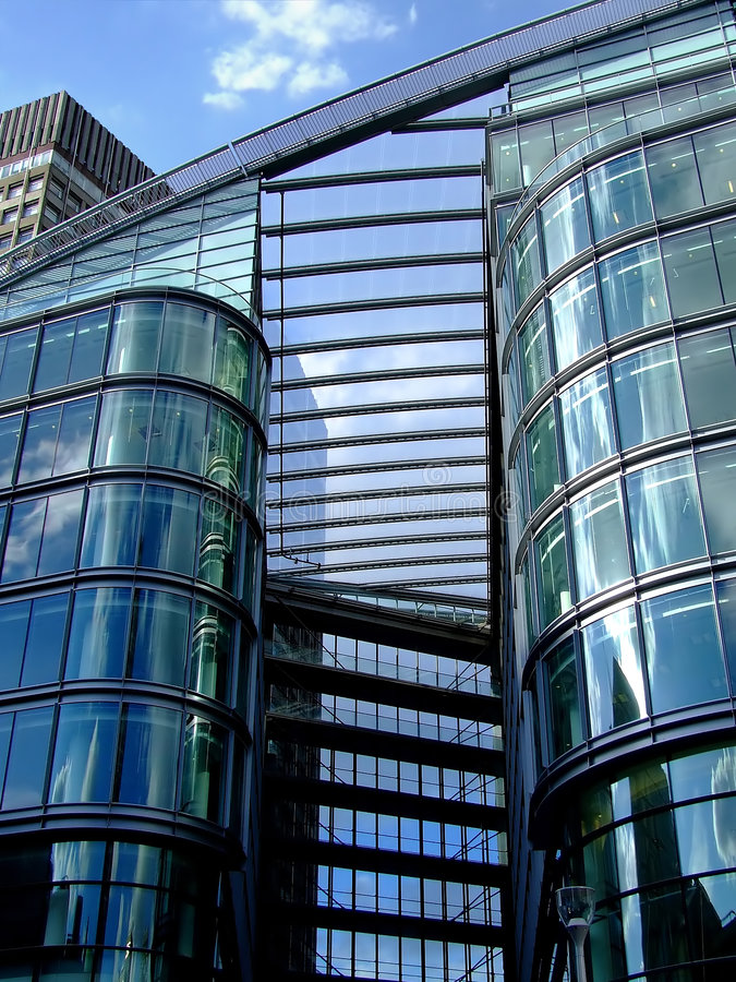 Detalle del edificio de oficinas imagen de archivo