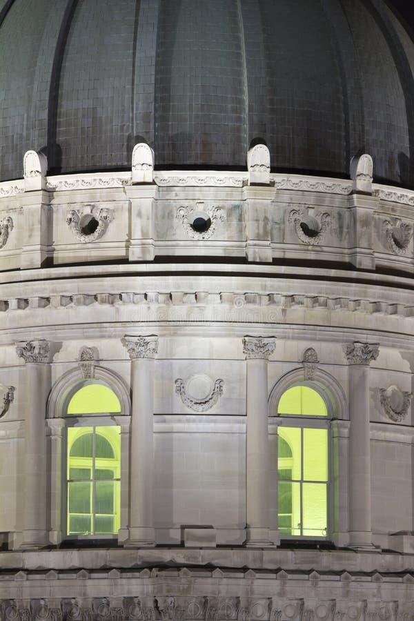 Detalle del edificio del capitolio del estado en Indianapolis imagen de archivo