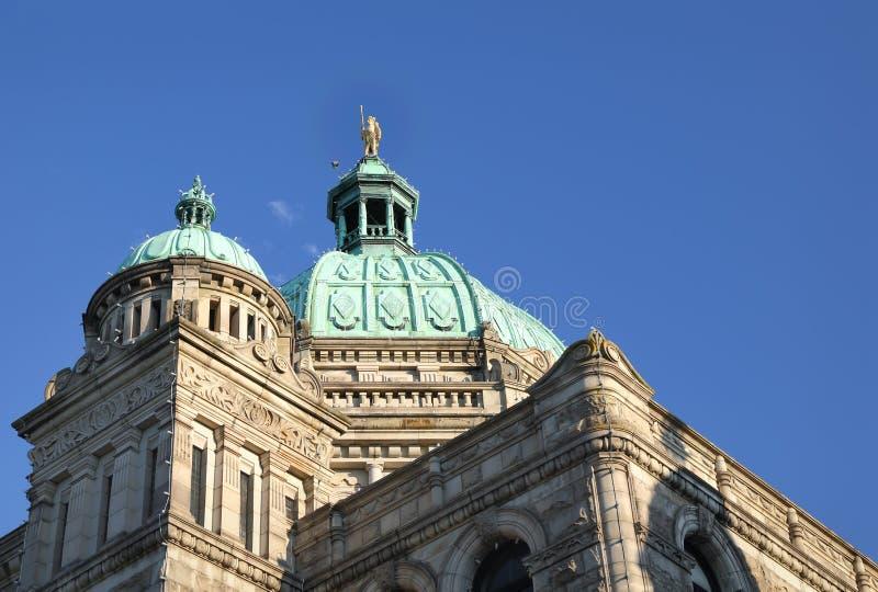 Detalle del edificio del parlamento, Victoria, A.C. foto de archivo libre de regalías