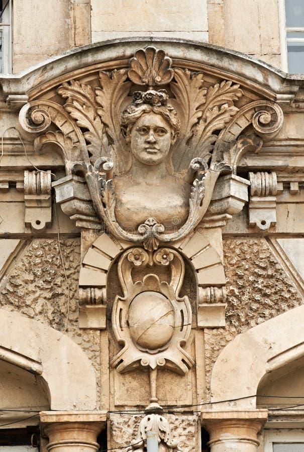 Detalle del edificio en Rousse Bulgaria fotos de archivo