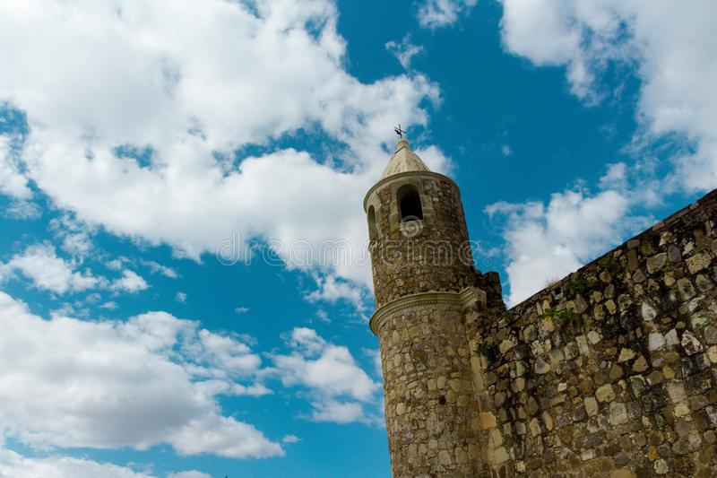 Detalle del ex convento de Cuilapan en Oaxaca México imagen de archivo libre de regalías