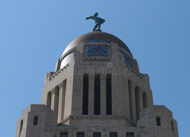 Detalle del exterior del sembrador del edificio del capitolio del estado de Nebraska foto de archivo libre de regalías
