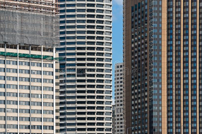 Detalle del exterior del edificio moderno de la sociedad y del edificio de la construcción en Sydney, Australia fotos de archivo libres de regalías