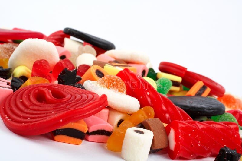 Detalle del fondo colorido de los dulces fotografía de archivo
