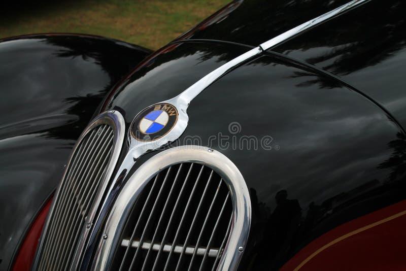 Detalle del frente del coche de deportes del bmw del vintage foto de archivo libre de regalías