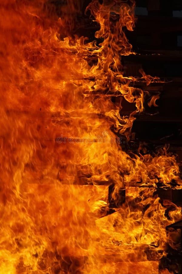 Detalle del fuego ardiente foto de archivo libre de regalías