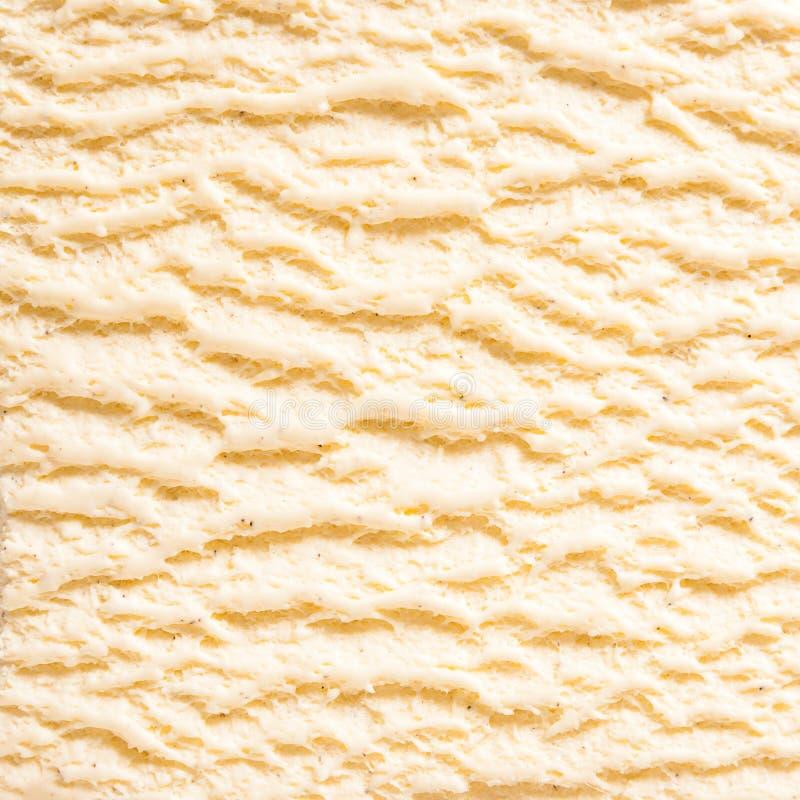 Detalle del helado de Borbón de la vainilla imagenes de archivo
