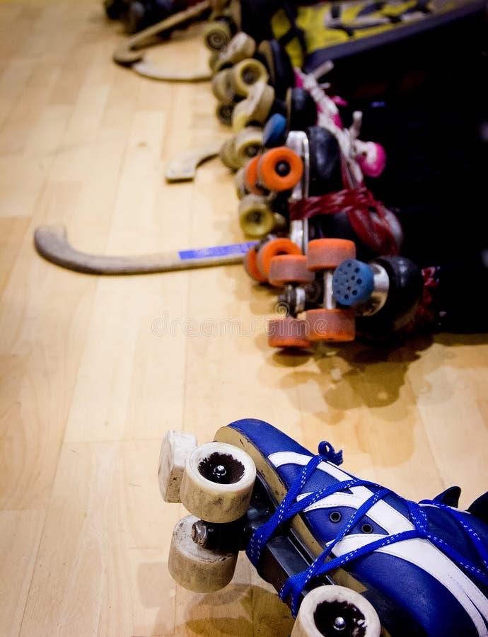 Detalle del hockey del rodillo imagen de archivo